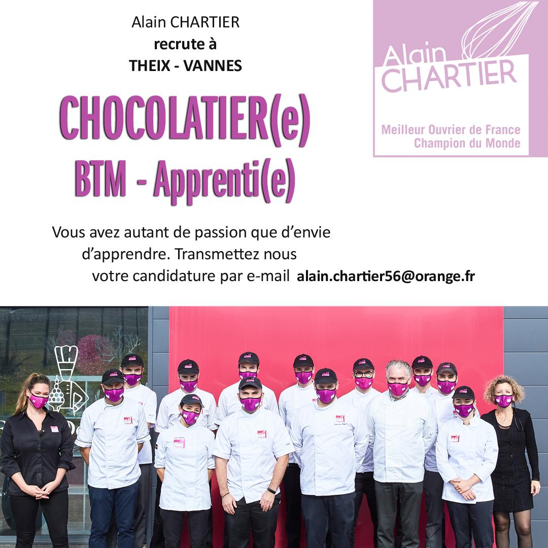 Recrutement Apprenti(e) Chocolatier Mi 2021