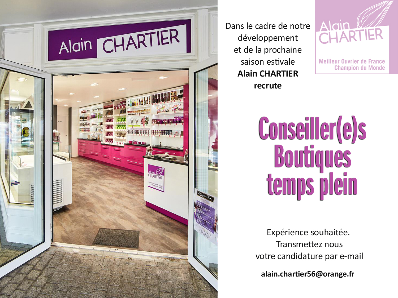 Recrutement boutiques Alain Chartier printemps 2021