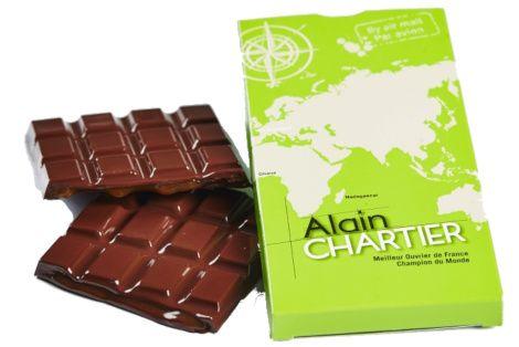 Tablettes en chocolat au lait 39% Caramel coulant