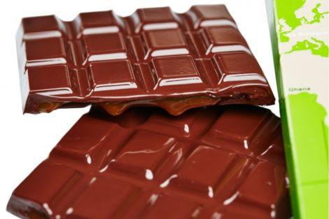 Tablettes gourmandes noir 66% Caramel