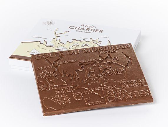 Tablette golfe du morbihan au chocolat lait