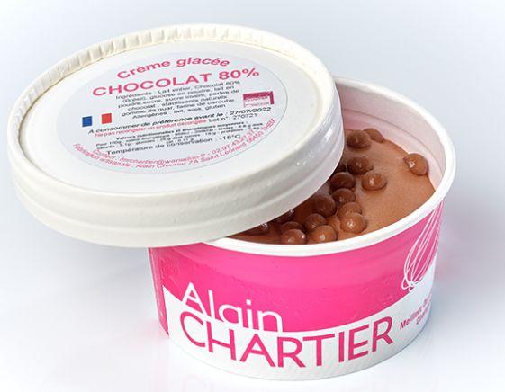 Petit pot glacé - Glace chocolat 80%