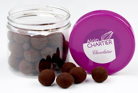 Grignotages Amandes chocolat noir poudre de cacao