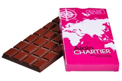 Tablettes en chocolat noir Macaé 62%