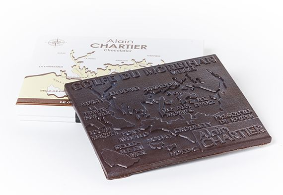 Tablette golfe du morbihan au chocolat noir