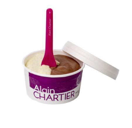 crème glacée vanille et crème glacée chocolat
