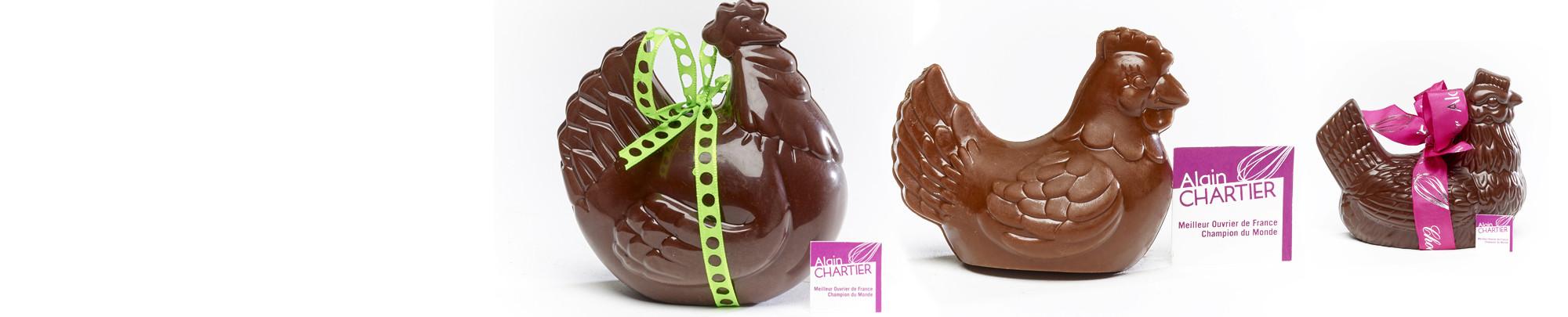 Les poules en chocolat