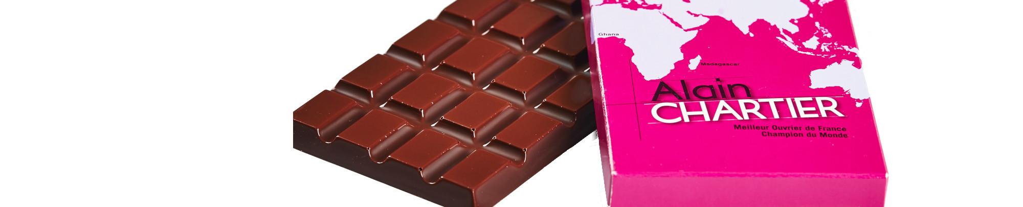 tablettes chocolat lait