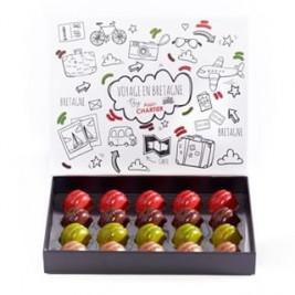 #VacancesenBretagne dans ses valises 😉🍫 Coffret 20 Macarons